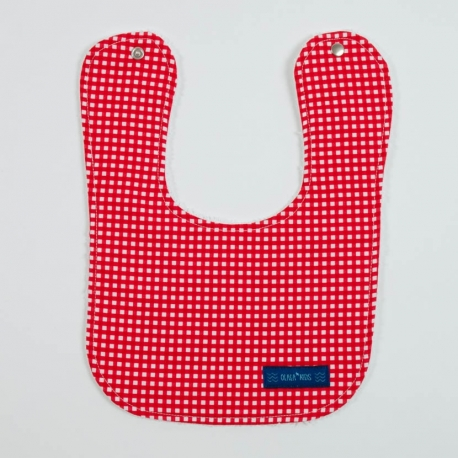 BIB SMALL VICHY RED