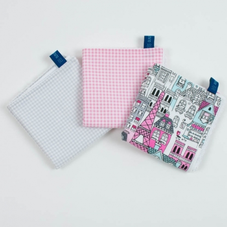 PACK 3 MINI TOWELS PARIS